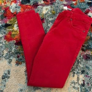 Express Red Skinny Jeans